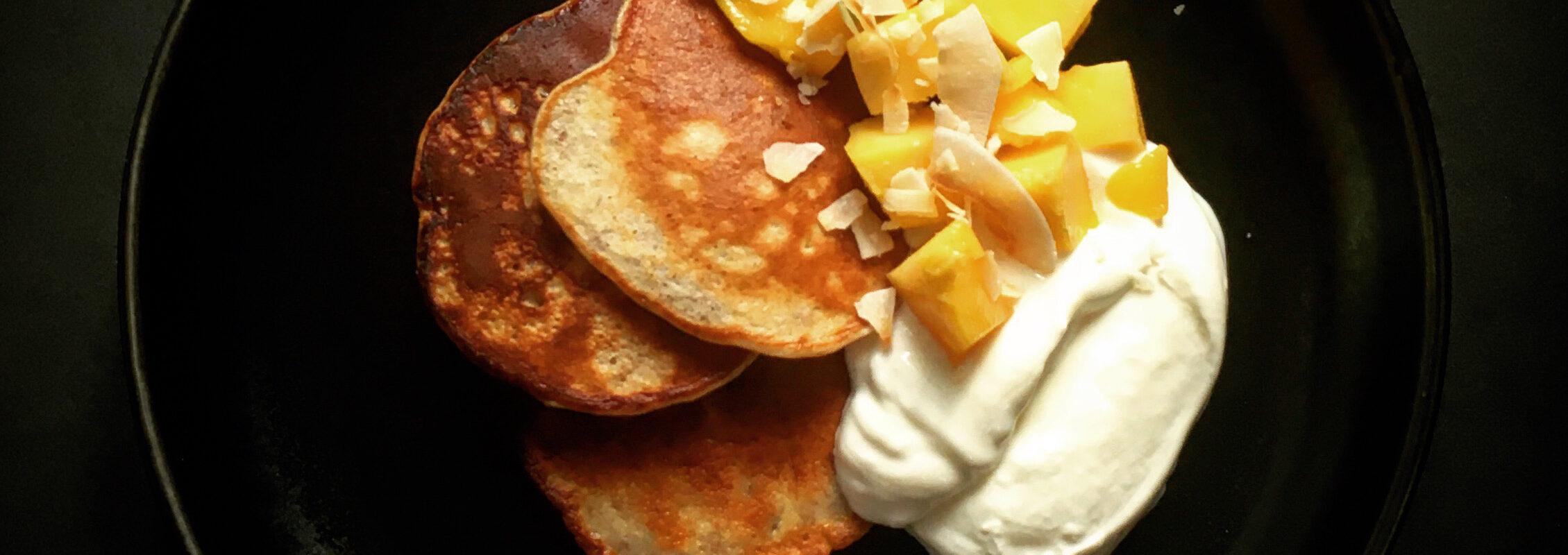 bananų blynai su speltų miltais